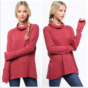 NEW! COWL NECK LONG SLEEVE TOP